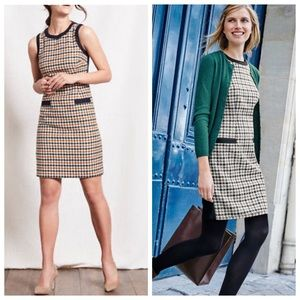 Boden Heather Tweed by Moon UK Houndstooth Dress